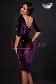 rochii de seara din catifea elastica