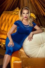 rochii din catifea albastra