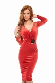 rochii din catifea rosie