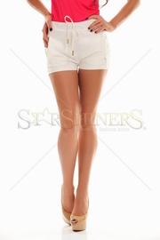 pantaloni scurti albi dama