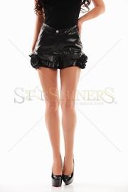 pantaloni scurti dama piele