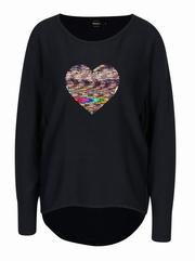pulover cu inima paiete