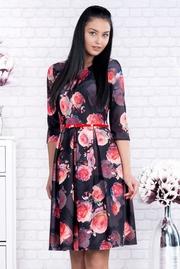 rochii cu imprimeu trandafiri