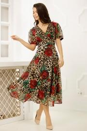 rochii cu trandafiri rosii