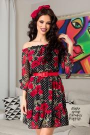 rochii negre cu flori rosii