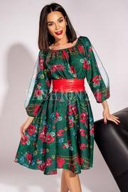 rochii scurte cu imprimeuri florale