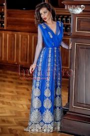 rochii lungi elegante albastre